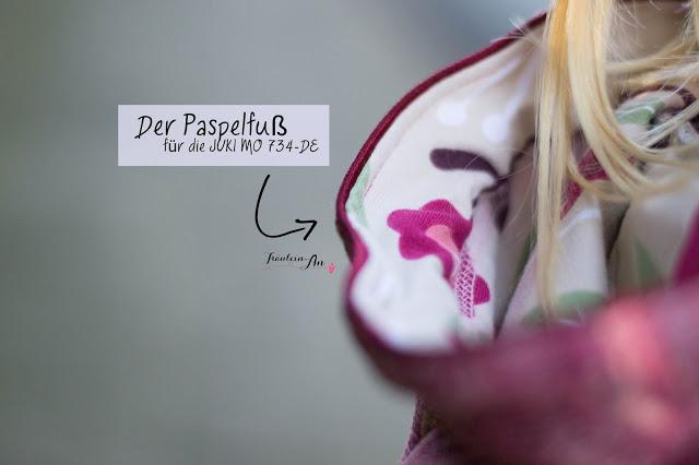 JUKI MO 734-DE – Der Paspelfuß