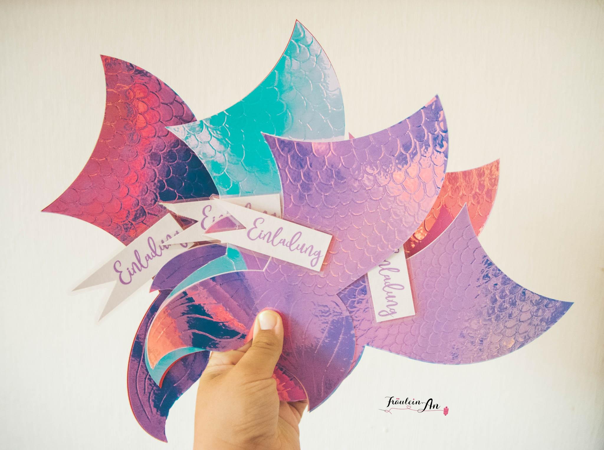 Cricut Maker: Meerjungsfrauen Einladungskarte